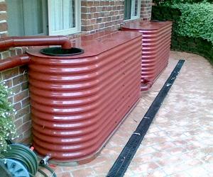 2010l Slimline Custom Water Tanks In Melbourne All Oz